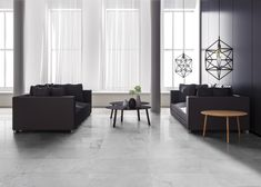 Concrete Look Tiles. The material of this project is inspired by contemporary industrial design.