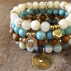 Perfect summer stack of bohemian bracelets. New to the shop