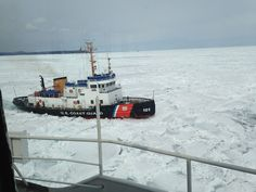 Took us 2 weeks to go from Duluth to Marquette Michigan. And had to have the USCG with us.