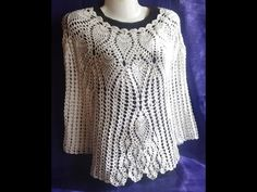 Кофточка с ананасами . Часть 1.Crochet blouse with pineapple - YouTube