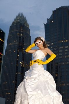 Batman wedding dress idea