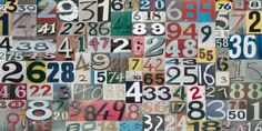 Sharon Elphick, Typography & Symbols, Numbers,