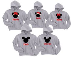 Disney Mickey and Minnie Family Vacation Sweatshirt Hoodie Disneyland Shirt Customized With Name by WBClothing on Etsy https://www.etsy.com/listing/247664461/disney-mickey-and-minnie-family-vacation