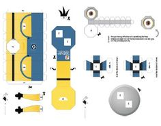 Despicable Me 2 Minions Paper Craft Template Download | Web Cool Tips