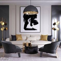 25 interior design ideas for classic living room 1 Rugs In Living Room, Interior Design Living Room, Living Room Decor, Interior Livingroom, Room Rugs, Apartment Interior, Black And Gold Living Room, Black Rooms, Classic Living Room