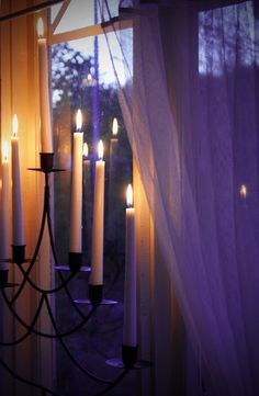 Romantic Long Stem Candles...perfect decor for any Boudior.