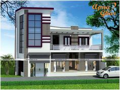 Commercial Cum Residential House Design  Traditional 5 Bedroom Duplex House Design along with Commercial Shops 310 sq mt area.  View the Floor Plan here: http://www.apnaghar.co.in/house-design-436.aspx  Call Toll-Free No.- 1800-102-9440 Email: support@apnaghar.co.in