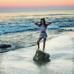 Annie leblanc At the beach in la