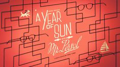 A Year of Sun with Mr. Persol - Great little video, by Yuki 7, vimeo, via thefoxisblack.com: http://vimeo.com/29986424 #vimeo #Yuki7