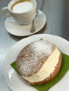 Maritozzo & cappuccino for a festive breakfast as the Romans do 😋 Italian Breakfast, Sweet Potato Gnocchi, Happy Weekend, Romans, Binder, Italian Recipes, Festive, Foods, Dishes
