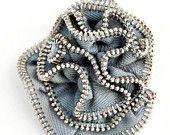 Zipper brooch by miyyoART  http://www.miyyoart.etsy.com