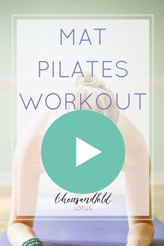 Video - Thousandfold Lotus - Full Body Mat Pilates Workout UNDER 20 MINUTES! Pin now, and use as the perfect lunch break workout - Pilates At Home, Pilates Body, Pilates Video, Pilates For Beginners, Pilates Reformer, Pilates Online, Pilates Training, Pilates Workout Routine, Pilates Quotes