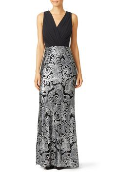 Rent Silver Stream Gown by Laundry by Shelli Segal for $80 - $100 only at Rent the Runway.