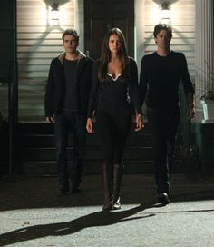 Ian Somerhalder, Paul Wesley, and Nina Dobrev in The Vampire Diaries (2009)