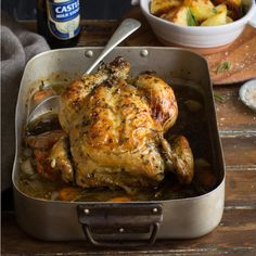 Sam Linsell's roast chicken with stout and rosemary - MyKitchen Honey Recipes, Beer Recipes, Roast Chicken Recipes, Roasted Chicken, Healthy Family Meals, Healthy Snacks, South African Recipes, My Cookbook, Cooking Classes
