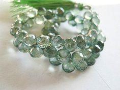 Semi Precious Gemstone Briolettes.  Mystic Green by LuxBeads