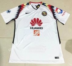 719871a2927 2017-18 Club America Away White Thailand Soccer Jersey AAA