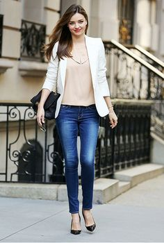 Tomboy Outfit  /  Zalora Magazine  /  White Jacket and Pink Top with Jeans  /  tags: hijab, hijab fashion, hijab style
