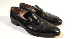 $625 GRAVATI Wilson & Dean for Wilkes Bashford Italian Black Leather Dress Shoes