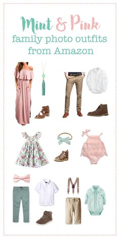 Spring Family Photo Outfits Spring Family Photo Outfits Stacey Erickson stcybt Family picture outfits Mint and Pink Family photo Spring Family Pictures, Family Pictures What To Wear, Beach Family Photos, Easter Pictures, Family Pics, Baby Pictures, Family Posing, Beach Pics, Vintage Family Pictures