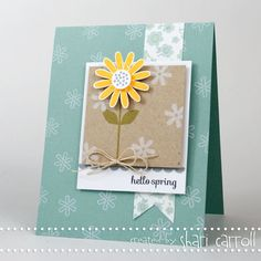 Shari Carroll: …my world –  Simon Says Stamp March Kit Blog Hop! - 3/1/13.  (Flowers: 3D/ Dies... Pin+: Banners...; Laying).
