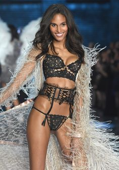 Cindy Bruna from France walks the runway during the 2015 Victoria's Secret Fashion Show