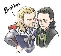 Thor and Loki by Hallpen.deviantart.com on @deviantART