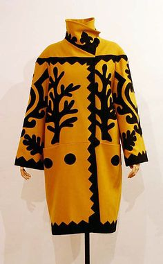 Christian Lacroix  (French, born 1951)  Date: ca. 2003 yellow and black wool coat