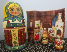 Russian nesting dolls matryoshka from Russian Gifts & Collectibles story dolls