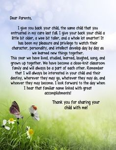 I can't believe its that time of the year! Time to say goodbye to students and parents. It's bittersweet. This is a sweet and sincere goodbye and thank you letter to the parents of your students. It's editable in PowerPoint just by adding a text box to add the date and your signature at the end of the letter.