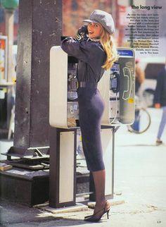 'The Long View' from…………..Vogue July 1992 feat Karen Mulder, Nadege du Bospertus & Claudia Schiffer