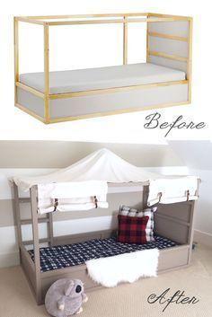 Harlow & Thistle: DIY Boy Canopy Bed - Ikea Kura Hack