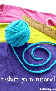 How To Make T Shirt Yarn! Photo + Video Tutorial on Fiber Flux