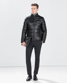 ZARA - MAN - QUILTED LEATHER JACKET