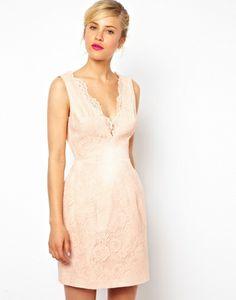 Robe mi-longue ASOS Rose t36 50€