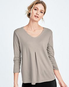 Eileen Fisher Pleated-Front Top