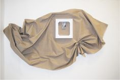 Anna Glinkina Untitled 0.2 200x160 cm Wooden frame, linen, found image, found string Laundry, Anna, Laundry Room, Laundry Rooms