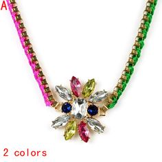 Aliexpress.com : Buy Neon color sparkle punk stone pendant chain necklace,NL 2114 from Reliable torques necklace suppliers on Well Done Fashion LLC. $3.69
