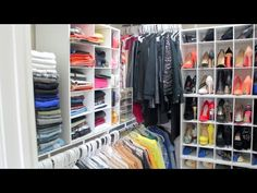 Peakmill's Closet Tour 2014| How I Organize My Clothes, Shoes, Bags, Jewelry, ETC - YouTube