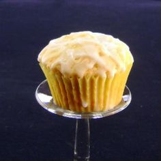 Lemon Sour Cream cupcakes - (recipe says muffins but more like a moist and buttery pound cake in cupcake pan)