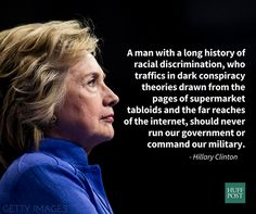 From her speech on Donald Trump.