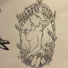 #WIP #workinprogress #sketch #art #lilwolfnart #doodle #drawing #scribble #feline #anthro #furry #flowers #bleedingheart #plants #venusflytrap #copicmultiliner #copic #lineart #lined #inked by lilwolfn27