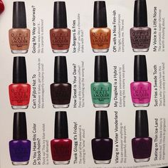 opi nordic collection - Google Search
