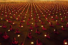 Cerimonia nel giorno del Magha Puja, Thailandia.