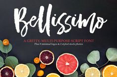 For 2 weeks only, get $40 worth of design goodness for only $6! Yep, that's probably cheaper than your last Starbucks run. ;) Say, Ciao to Bellissimo! A trendy, hand-brushed font, designed