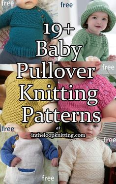 Free Knitting Patterns for Baby Pullover Sweaters with Buttons for Easy Dressing. Most patterns are free.