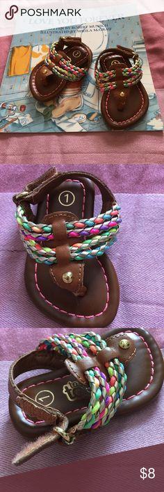 New toddler sandals! Super cute colorful toddler thong handles. Adjustable Velcro straps Shoes Sandals & Flip Flops
