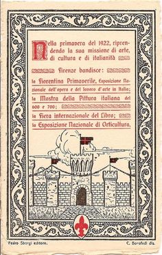 Iconografia Fiera Internazionale del Libro di Firenze, 1922 #TuscanyAgriturismoGiratola