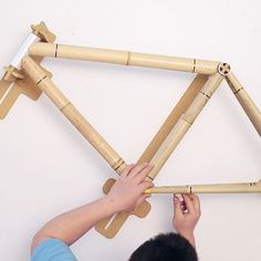 Build A Bamboo Bike In Under 5 Hours. The goal is a kit to build your own bamboo bike with flexibility and accuracy of the jig design. This new style basically allows the jig to produce a custom frame that you can't find in stores.