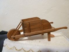 Wonderful Miniature Wood Wheelbarrow By Sir Tom Thumb